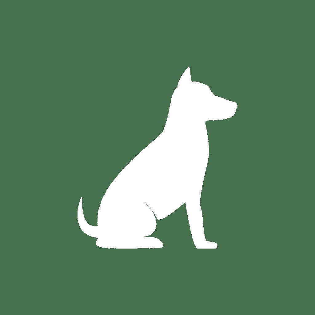white dog shape