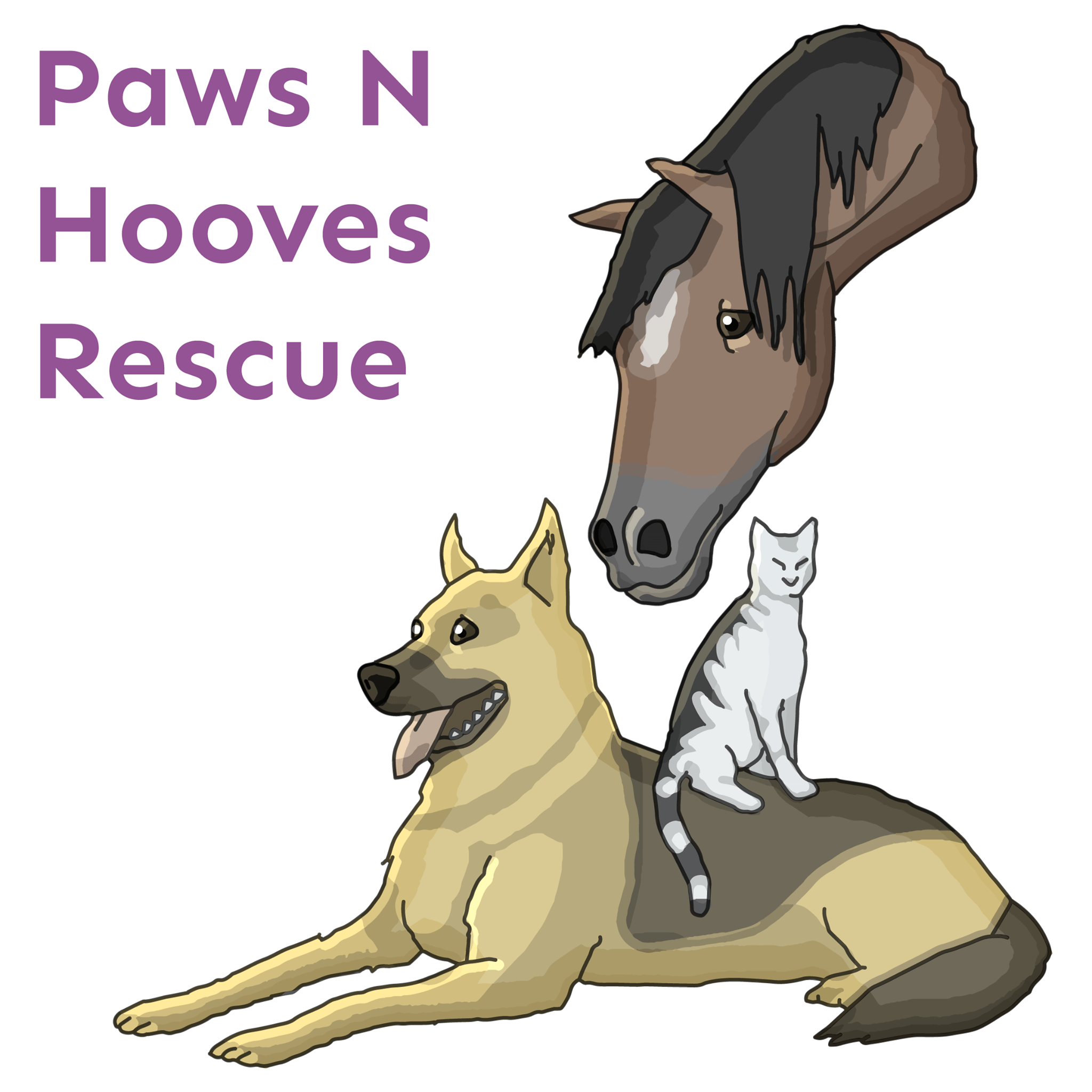 paw N hooves rescue logo