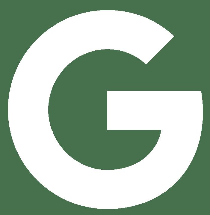 Google logo white