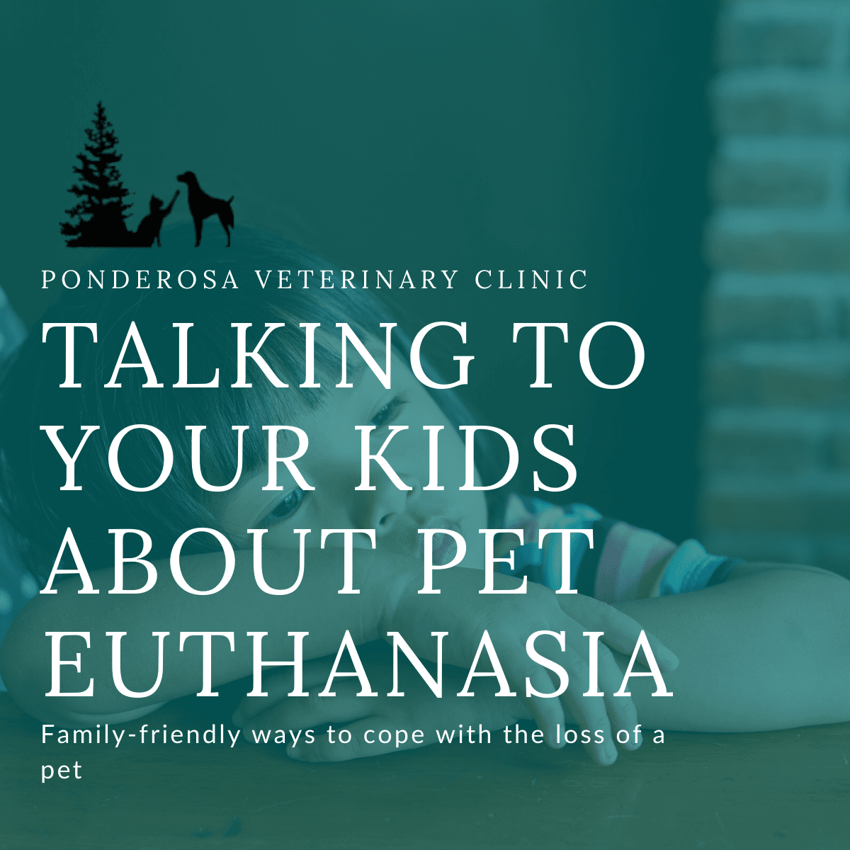 Child resting head on hands and looking sad in order to depict how to talk to your kids about pet euthanasia