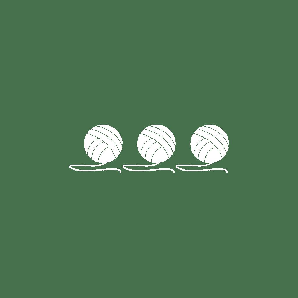 White Balls Of Yarn
