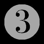 grey number three