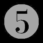 grey number five